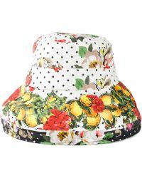 Dolce & Gabbana Lemon Print Cloche Hat - Lyst
