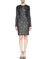 Rachel Zoe Adrienne Long-sleeve Sequined Dress - Lyst