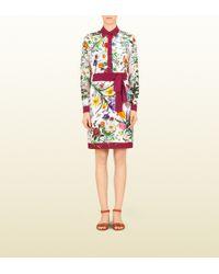 Gucci Silk Crêpe De Chine Shirt Dress - Lyst