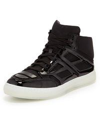 Alejandro Ingelmo Nylon Plate Hightop Sneaker Black - Lyst