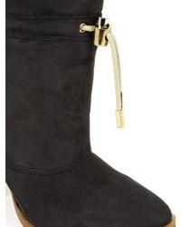 Chloé Drawstring Sheepskin Ankle Boots - Lyst