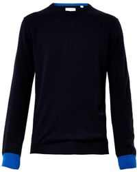 Chinti And Parker Contrastcuffs Cashmere Sweater - Lyst