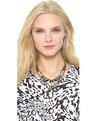 Tom Binns - Dumont Pearl Noir Tiered Necklace - Lyst