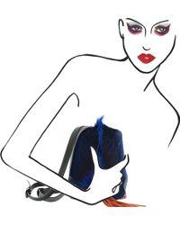 Nasha | Sapphire Fur And Goat Skin Backpack | Lyst