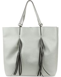 Kenneth Cole Reaction Horizontal Fringe Tote beige - Lyst