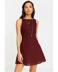 Kimchi Blue - Bethany Linen Apron Dress - Lyst