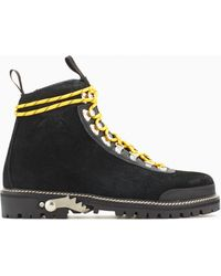 Off-White c/o Virgil Abloh | Leather Hiking Boots | Lyst