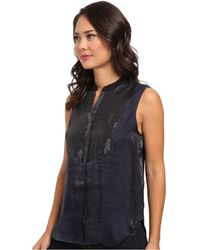 Calvin Klein Jeans Sequined Front Tuxedo Tank - Lyst