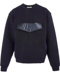 Christopher Kane Black Nylon Pocket Sweatshirt - Lyst