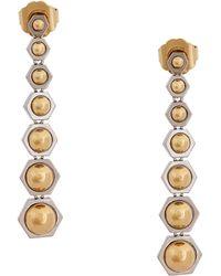 Rachel Zoe Two Toned Linear Drop Earrings - Lyst