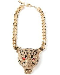Roberto Cavalli Panther Necklace - Lyst
