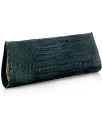 Anne Sisteron - Crocodile As Clutch - Green - Lyst