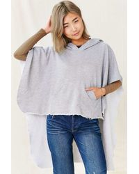 Urban Renewal - Recycled Hooded Fleece Poncho - Lyst