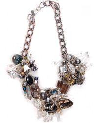 Subversive Jewelry Crystal Wreath Necklace - Multicolour