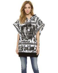 KTZ Sleeveless Sweatshirt - White/Black Print - Lyst