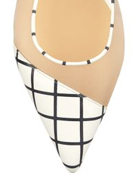 Bionda Castana - Romy Checked Leather And Mesh Flats - Lyst