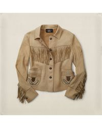 RRL - Woodland Beaded Leather Jacket - Lyst