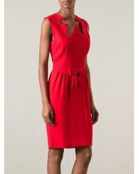 Moschino Ribbon Cut Out Dress - Lyst