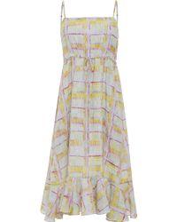 Suno Drippy Plaid Bubble Hem Maxi Dress - Lyst