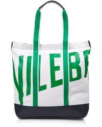 Vilebrequin - Bertrand Canvas And Leather Beach Bag - Lyst