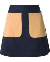 Petit Bateau Jupe Aline Miniskirt - Blue