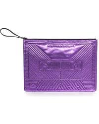 Jérôme Dreyfuss Corto Moltedo Cassette Big Clutch Purple purple - Lyst