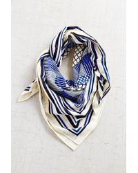 Urban Outfitters Patch Print Oversized Border Square Scarf - Lyst