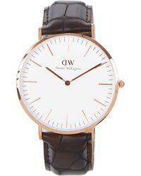 Daniel Wellington Classic York And Croc-Embosed Leather Watch - Lyst