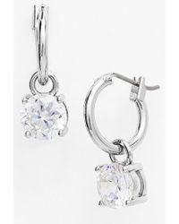 Anne Klein Cubic Zirconia Drop Earrings - Metallic