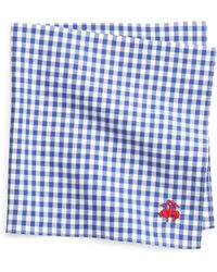 Brooks Brothers Gingham Pocket Square - Lyst