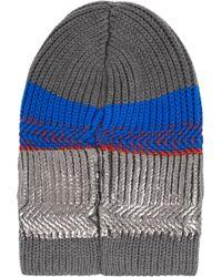 Eleven Everything - + Metallic Striped Merino Wool Beanie - Lyst