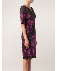Lela Rose Floral Stretch Dress - Lyst
