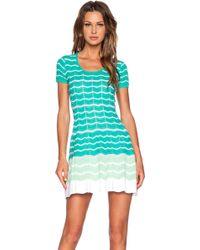 M Missoni Zig Zag Mini Dress - Lyst
