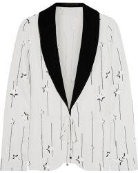 Karl Lagerfeld Printed Jersey Blazer - Lyst