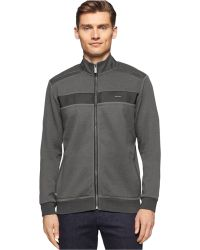 Calvin Klein | Long Sleeve Full Zip Solid Jacket | Lyst