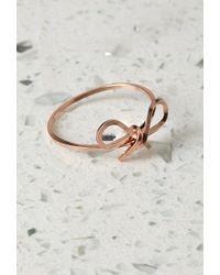 Forever 21 By Boe Reminder Bow Ring - Lyst