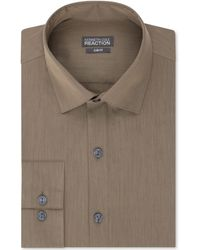 Kenneth Cole Reaction Slim Fit Solid Dress Shirt - Lyst