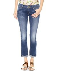Hudson Kylie Crop Skinny Jeans with Cuffs Revival - Lyst