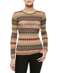 M Missoni Tie-dye Stretch Knit Top - Lyst