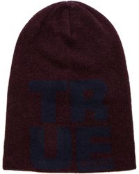 True Religion Lettered Slouchy Beanie - Lyst