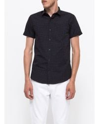 Topman Short Sleeve Navy Dolly Dot blue - Lyst