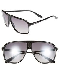 Carrera 62Mm Sunglasses - Shiny Black/ Grey Mirror - Lyst