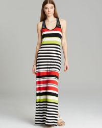 Vince Camuto Multi Stripe Maxi Dress - Lyst