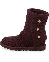 Ugg Classic Cardy Crochet Boot Port 350b50b - Lyst