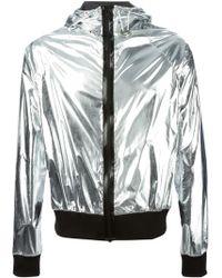 Wanda Nylon Metallic Hooded Bomber Jacket - Lyst