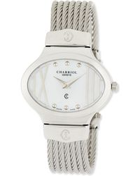 Charriol - Darling Stainless Steel & Mother-of-pearl Micro-cable Bracelet Watch - Lyst