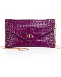 Dee Ocleppo - Editor's Crocodile-embossed Leather Envelope Clutch - Lyst