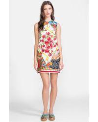 Dolce & Gabbana Print Brocade Shift Dress - Lyst