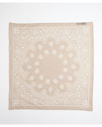 Gucci Beige Paisley Print Cotton Square Scarf - Lyst