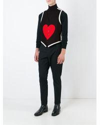 Moschino Heart Print Waistcoat - Black